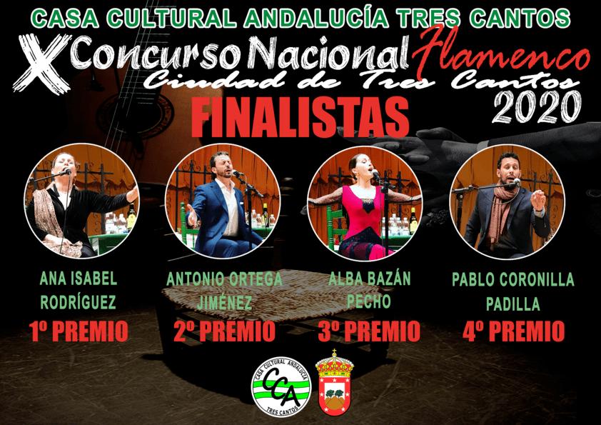 """Finalistas X Concurso Nacional de Flamenco """"Ciudad de Tres Cantos"""""""